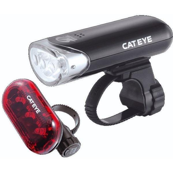 Cateye Hl-el135/tl-ld135r Black Set