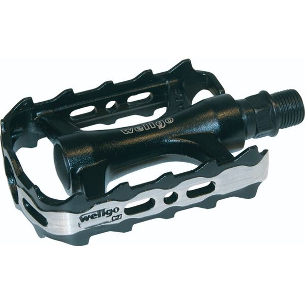 Pedal Cavo Mtb/trekking Black/silver.alu 9/16