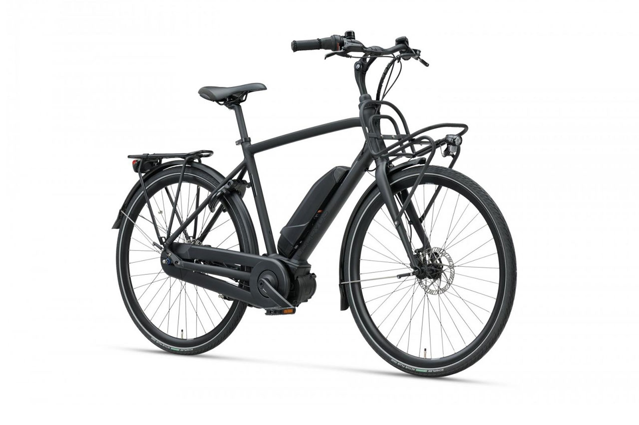 Batavus Harlem E-go Herr Mattsvart 2021 Elcykel Hybrid
