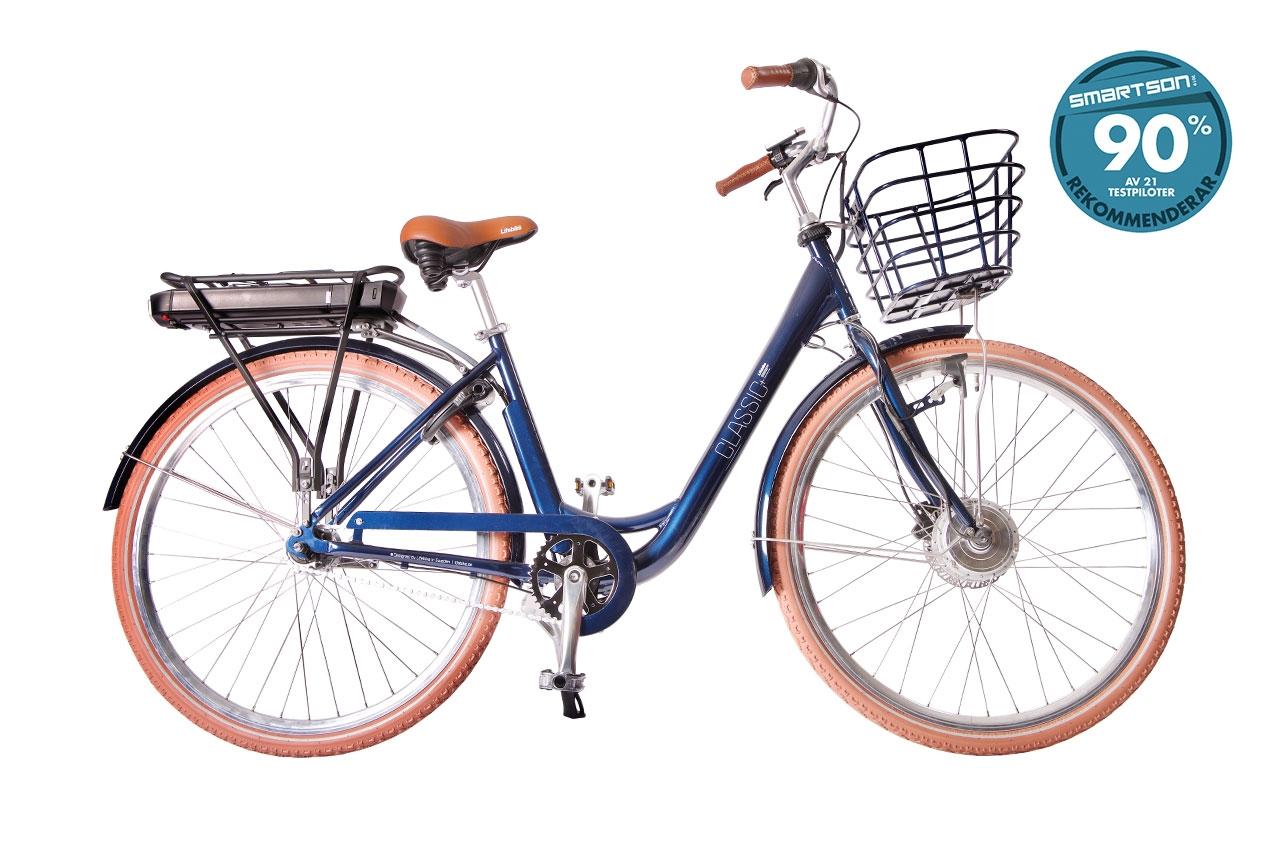 Lifebike Classic + G8 Blå Elcykel  Klassisk