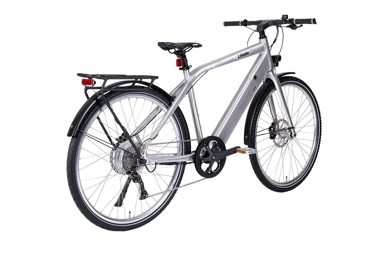Lifebike C-mute Speed 9vxl G8 Silver Elcykel Hybrid