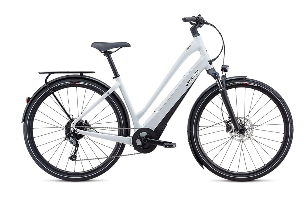 Specialized Turbo Como 0 Metallic White Dam S Elcykel Hybrid